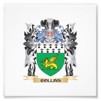 Escudo de armas de Collins - escudo de la familia Fotografías