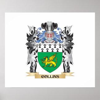 Escudo de armas de Collins - escudo de la familia Póster