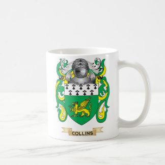 Escudo de armas de Collins Taza Básica Blanca
