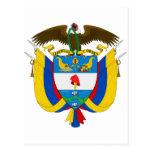 Escudo de armas de Colombia Postales