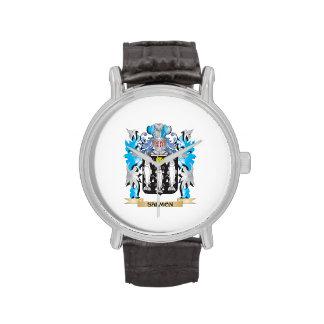 Escudo de armas de color salmón - escudo de la relojes de pulsera