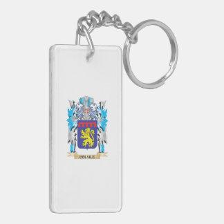 Escudo de armas de Colvile - escudo de la familia Llavero Rectangular Acrílico A Doble Cara