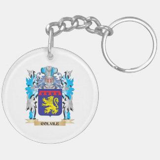 Escudo de armas de Colvile - escudo de la familia Llavero Redondo Acrílico A Doble Cara