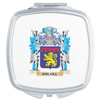 Escudo de armas de Colvill - escudo de la familia Espejo Maquillaje