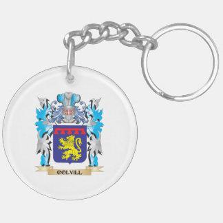 Escudo de armas de Colvill - escudo de la familia Llavero Redondo Acrílico A Doble Cara