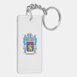 Escudo de armas de Colvill - escudo de la familia Llavero Rectangular Acrílico A Doble Cara