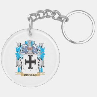 Escudo de armas de Colville - escudo de la familia Llavero Redondo Acrílico A Doble Cara