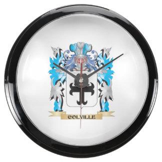 Escudo de armas de Colville - escudo de la familia Relojes Pecera