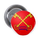 Escudo de armas de Comtat Venaissin (Francia) Pin Redondo 5 Cm