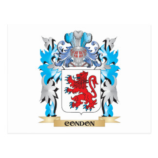 Escudo de armas de Condon - escudo de la familia Tarjetas Postales
