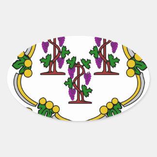 Escudo de armas de Connecticut Calcomania De Óval