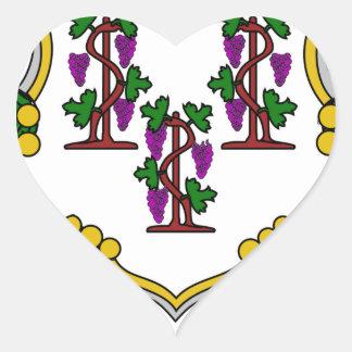 Escudo de armas de Connecticut Pegatina Corazon