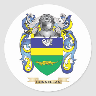 Escudo de armas de Connellan Pegatinas Redondas