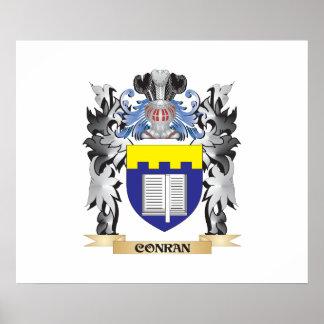 Escudo de armas de Conran - escudo de la familia Póster