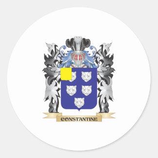 Escudo de armas de Constantina - escudo de la Pegatina Redonda