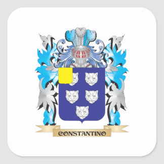 Escudo de armas de Constantino - escudo de la Pegatina Cuadrada