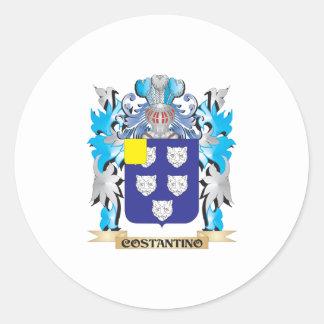 Escudo de armas de Constantino - escudo de la Pegatina Redonda