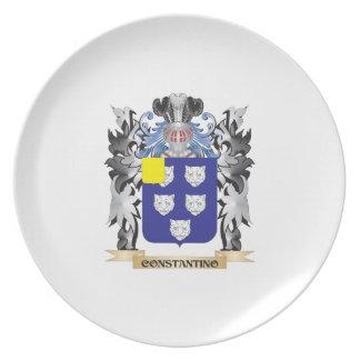 Escudo de armas de Constantino - escudo de la Plato Para Fiesta