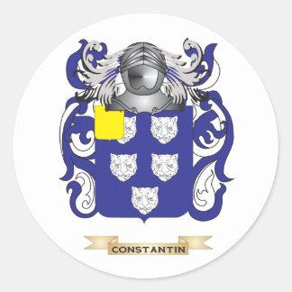 Escudo de armas de Constantino Pegatina Redonda