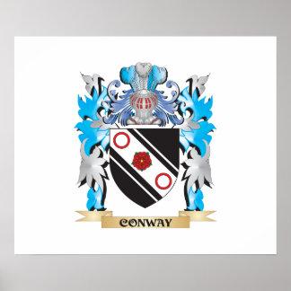 Escudo de armas de Conway - escudo de la familia Impresiones