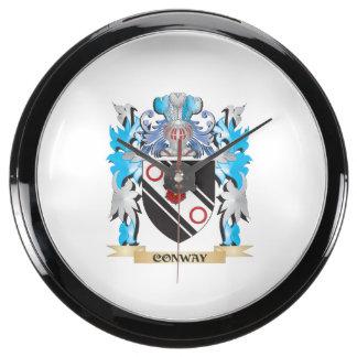 Escudo de armas de Conway - escudo de la familia Relojes Pecera