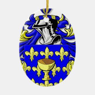 Escudo de armas de Coppola Adorno Ovalado De Cerámica
