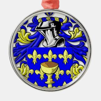 Escudo de armas de Coppola Adorno Redondo Plateado