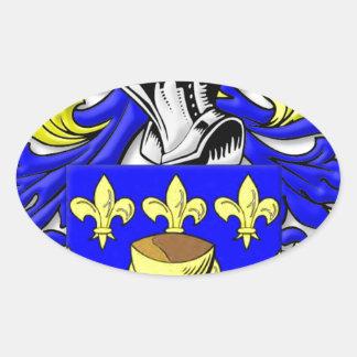 Escudo de armas de Coppola Pegatina Ovalada