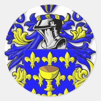 Escudo de armas de Coppola Pegatina Redonda