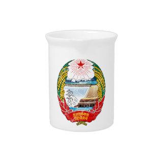 Escudo de armas de Corea del Norte Jarron