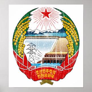 Escudo de armas de Corea del Norte Posters