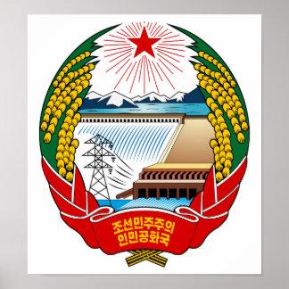 Escudo de armas de Corea del Norte Poster