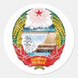 Escudo de armas de Corea del Norte Pegatinas Redondas