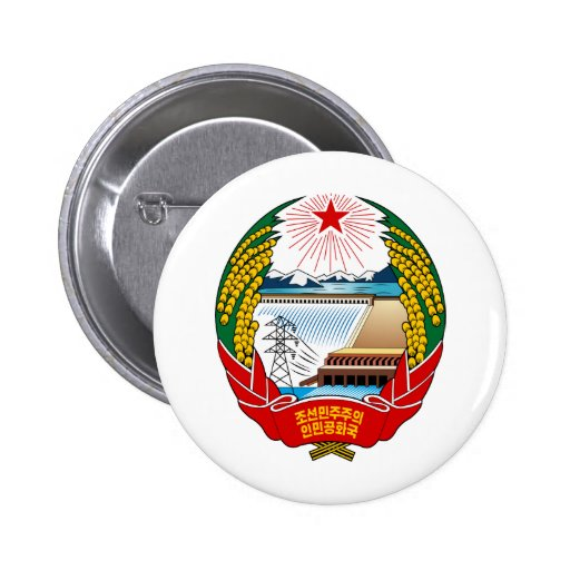 Escudo de armas de Corea del Norte Pins