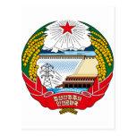 Escudo de armas de Corea del Norte Postal