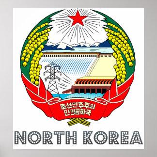 Escudo de armas de Corea del Norte Póster