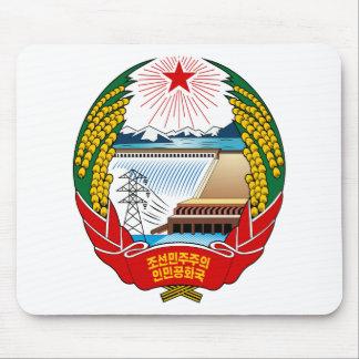 Escudo de armas de Corea del Norte Alfombrillas De Ratones