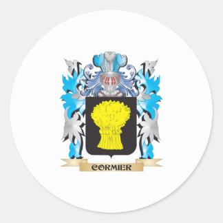 Escudo de armas de Cormier - escudo de la familia Pegatina Redonda