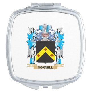 Escudo de armas de Cornell - escudo de la familia Espejo Compacto