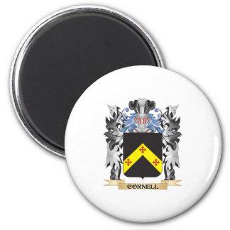 Escudo de armas de Cornell - escudo de la familia Imán Redondo 5 Cm