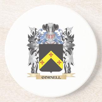 Escudo de armas de Cornell - escudo de la familia Posavasos Cerveza
