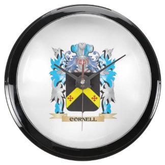 Escudo de armas de Cornell - escudo de la familia Reloj Pecera
