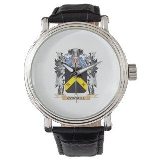 Escudo de armas de Cornell - escudo de la familia Relojes