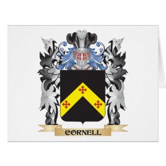 Escudo de armas de Cornell - escudo de la familia Tarjeta De Felicitación Grande