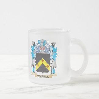 Escudo de armas de Cornell - escudo de la familia Taza Cristal Mate