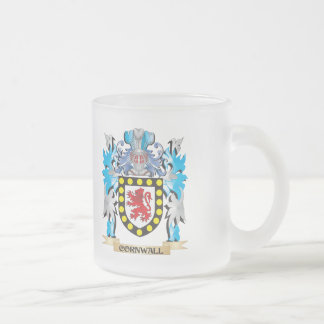 Escudo de armas de Cornualles - escudo de la Taza Cristal Mate