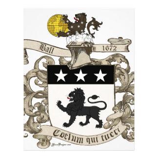Escudo de armas de coronel Guillermo Ball de Virgi Plantilla De Membrete