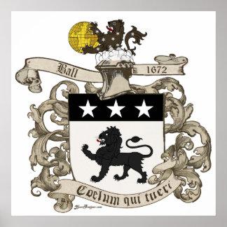 Escudo de armas de coronel Guillermo Ball de Virgi Impresiones