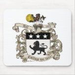 Escudo de armas de coronel Guillermo Ball de Virgi Tapete De Raton