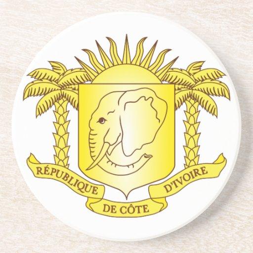 Escudo de armas de Costa de Marfil Posavasos Personalizados